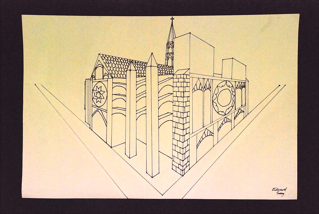 2 Point Perspective Medieval Architecture